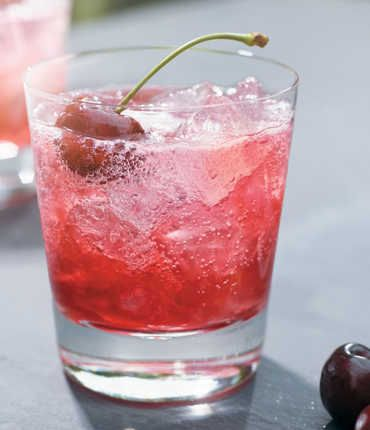 """Cherry Noir Limeade"" ------------------- Ingredients * 1 ½ Parts GREY GOOSE® Cherry Noir *¾ Part Fresh Lime Juice * ½ Part Grenadine * 2 Parts  Lemon-Lime Soda------------------------------     Add first three ingredients to a chilled rocks glass filled with ice.     Top with lemon-lime soda.     Present with a cherry."