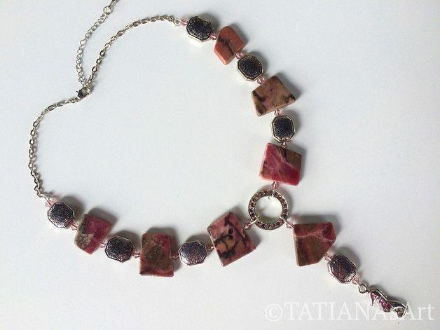 Colliers - *RHODONIT *DESIGN *COLLIER *Edelstein *Halskette - ein Designerstück von TATIANAsArt bei DaWanda