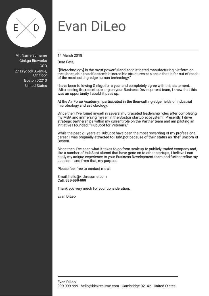 Phd biotech cover letter