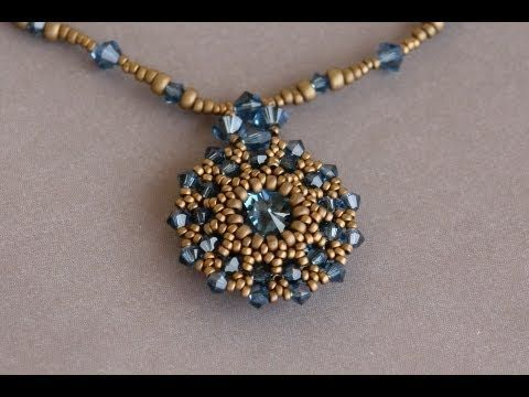 Sidonia's handmade jewelry - Making of the Swarovski rivoli pendant - YouTube