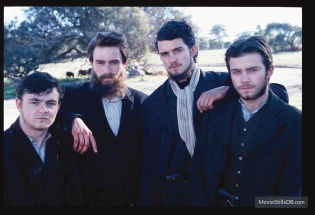 Ned Kelly - Promo shot of Heath Ledger, Orlando Bloom, Laurence Kinlan & Philip Barantini