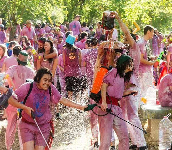 Haro wine festival (Spain) - Participate in the Haro wine festival on the 29th June 2016. It is a messy battle of wine where everyone pours wine over each other. Expect to see happy faces and a sea of wet pink shirts. - Want to discover more hidden gems in Europe? All of them can be found on www.broscene.com