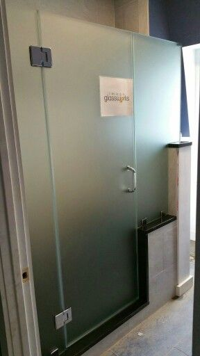 Frosted Frameless Shower Doors
