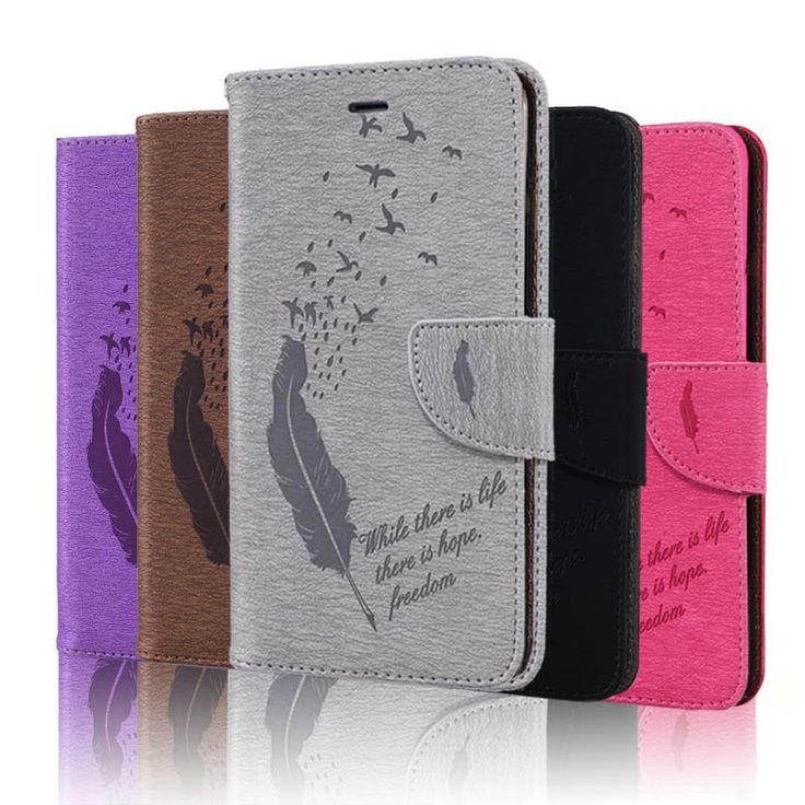 Plume Design Case for Samsung Galaxy S5 Cover S5, PU Leather Stand Flip Wallet Case for Samsung S5 Phone Bag Coque