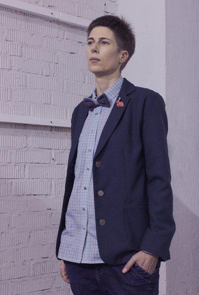 Tweed bow tie Jacket / wool  Shirt / cotton #jacket #shirt #womensclothes #accessories #bowtie #tweed #cotton #wool #viavestis ViaVestis ViaVestis@gmail.com ViaVestis.ru