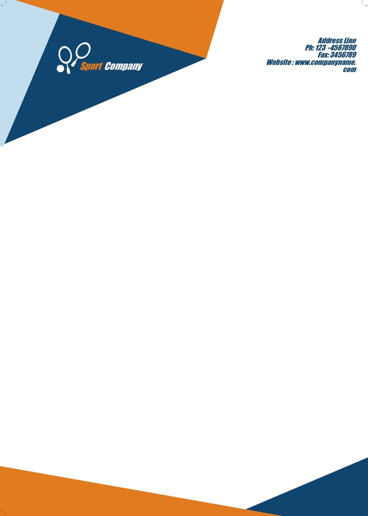 free template for letterhead