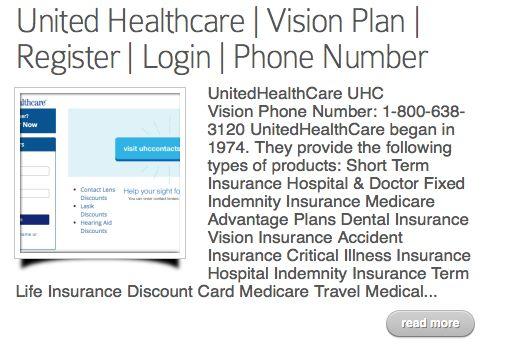 https://www.myuhcvision.com/ United Healthcare Login ...