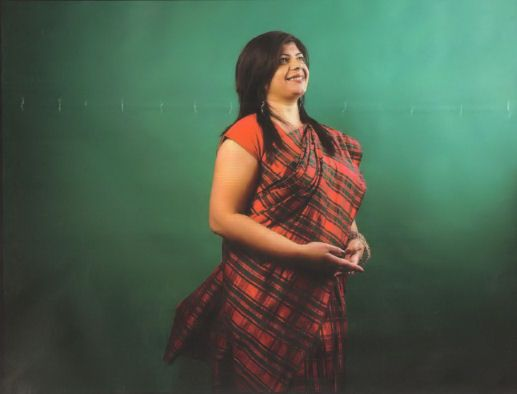 Tartan Sari Designed By Asha Ginda Scottish Asian