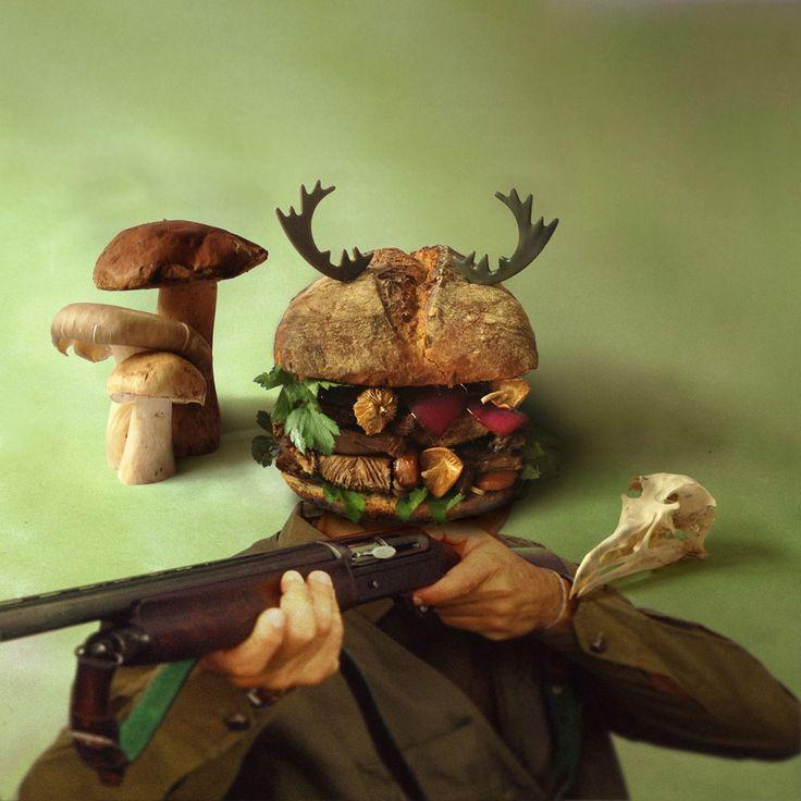 Бургер с ружьем
