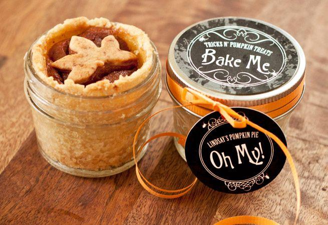 Pumpkin Pie In A Jar from My Own Ideas blog #baking #recipe #homemade #gift #fall #halloween