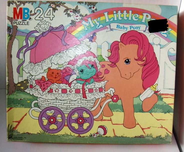 My Little Pony puzzle Baby Pony and Buggy 24 pieces featuring Peachy, Baby Cuddles and Twinkles the Cat ...