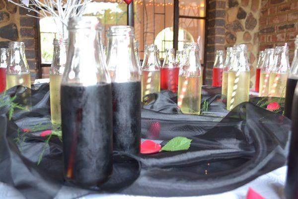 Refreshments for wedding decor