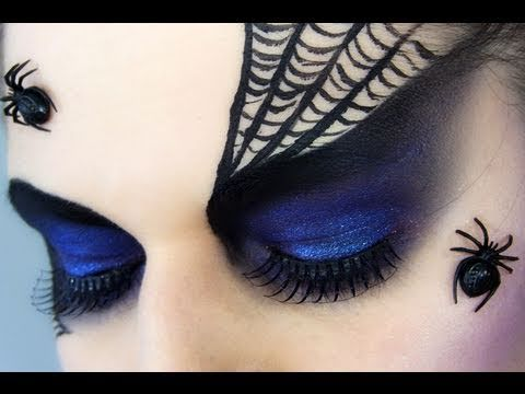 For makeup artistes, try this spider queen eye makeup.   16 Super-Last-Minute Halloween Costume Ideas