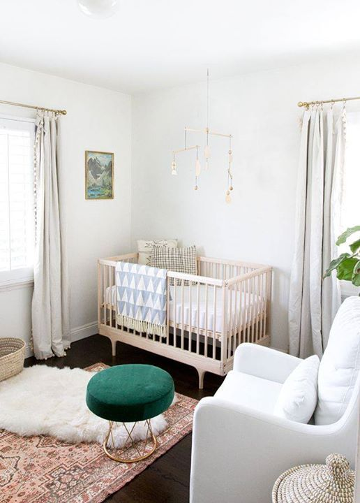 When it comes to decorating a nursery, try adding warmth by including a soft, easy-to-clean woolen rug. It will be the perfect finishing touch to the room and also makes tummy time and playing more comfortable!