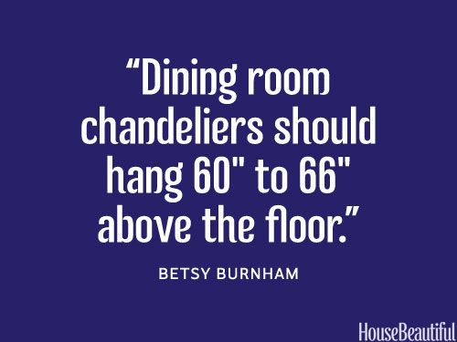 """The correct chandelier height. (I'm 59.5"""" tall, so as long as my husband and children are not 60"""" to 66"""" inches tall?)"""