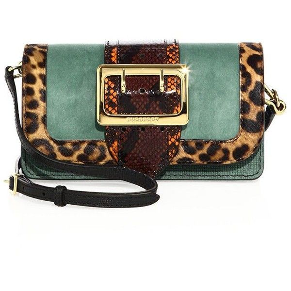 Burberry Chipstead Patchwork Multicolor Snakeskin, Calf Hair & Suede... ($2,495) ❤ liked on Polyvore featuring bags, handbags, shoulder bags, apparel & accessories, burberry purses, colorful handbags, snake skin purse, patchwork handbags and patchwork purses