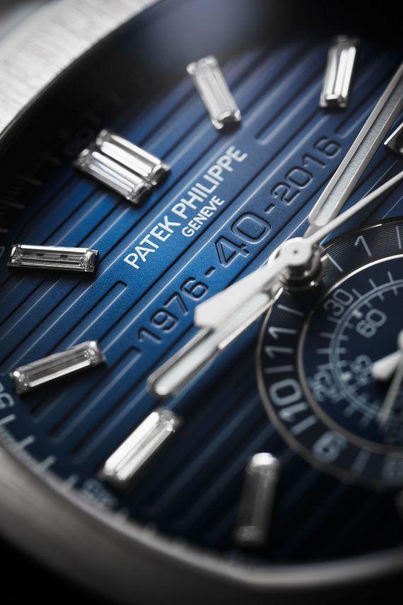 Patek Philippe Nautilus Chronograph 5976 40th Anniversary - dial CU