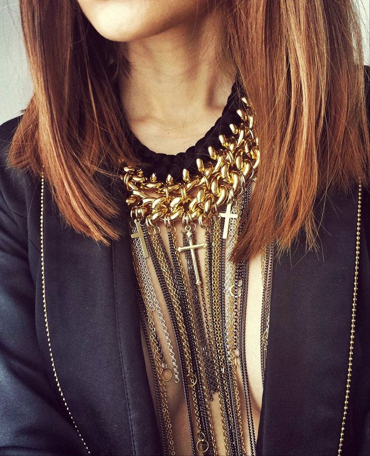 - massive simple braided necklace -