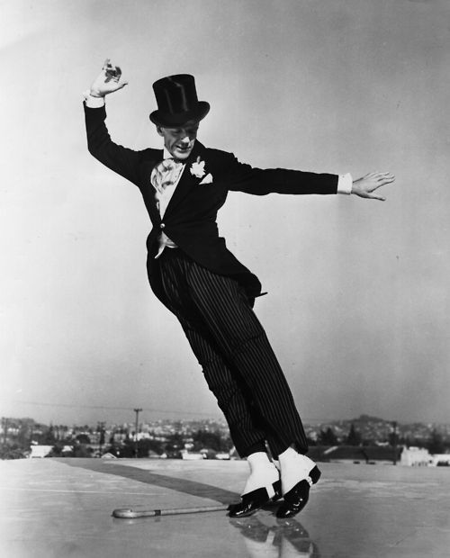 Fred Astaire on a rooftop, 1940s
