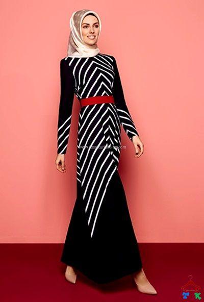 Armine Çizgili Elbise 2015 Yaz
