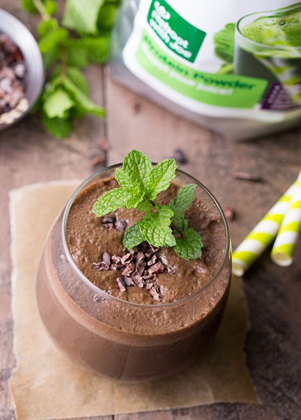 Mint Chocolate Protein Shake with Protein Powder