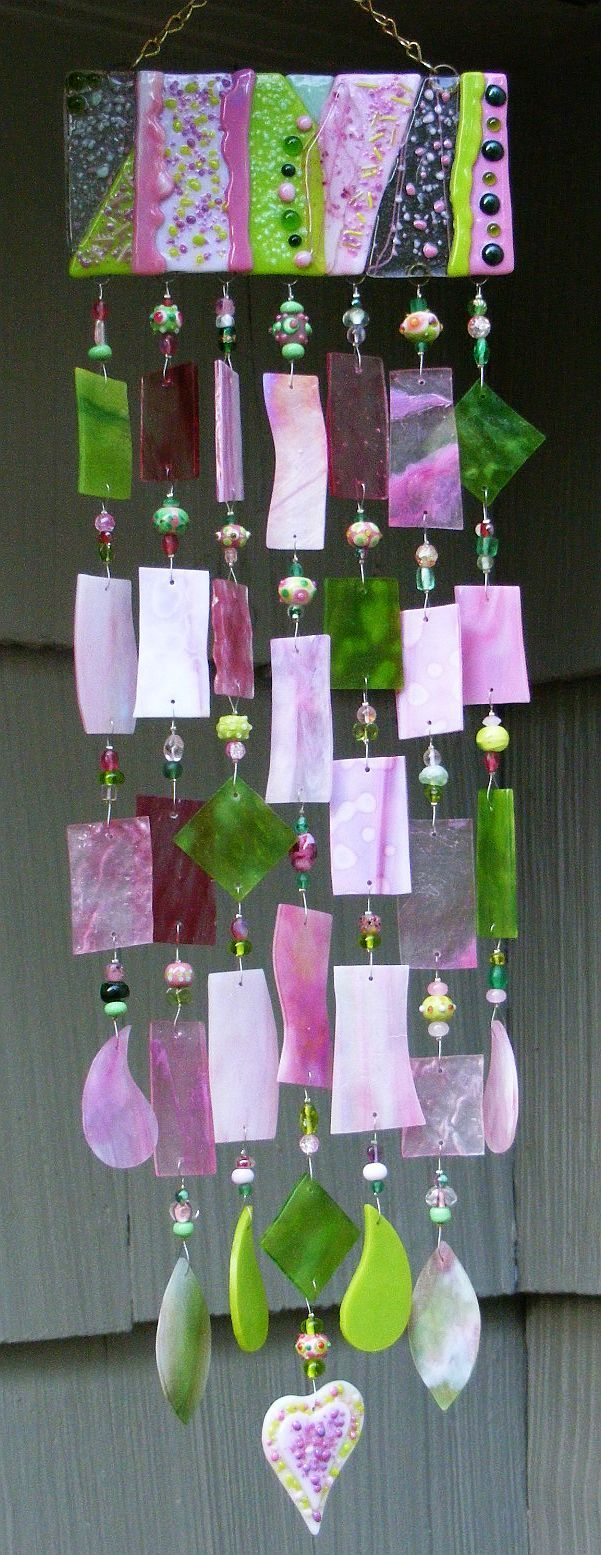 Great wind chime-  I would love to have some colored glass chimes and sun catchers to hang in the new window- The colors and patterns would be so pretty and the babies would love it!
