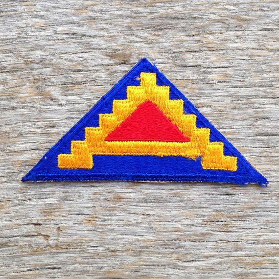 Vintage World War II U.S. Seventh Army Patch by tincanvintage