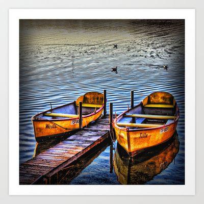 Twin Boats Art Print by AngelEowyn - $17.16