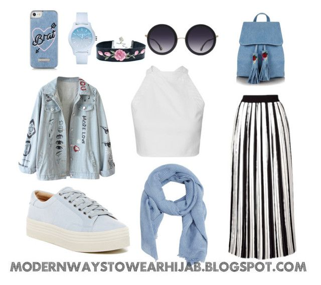 """""""STREET OUTFIT #6"""" by azzahraabelgassab on Polyvore featuring mode, Marc Fisher LTD, MANGO, Topshop, Alice + Olivia, Skinnydip et Lacoste"""