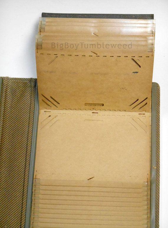 vintage victor kardex card file folder notebook book
