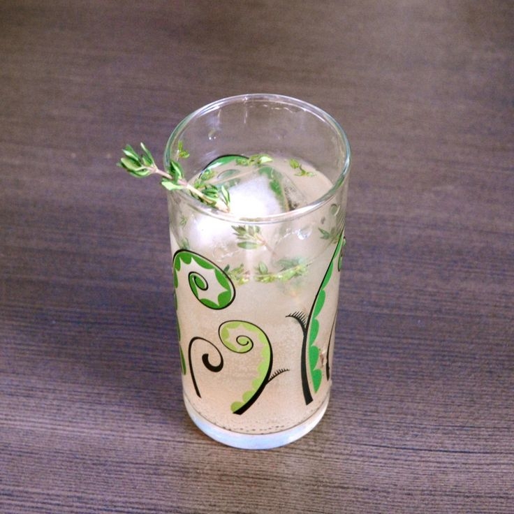 North 63rd Cocktail - pear and elderflower presse, gin, & fresh thyme