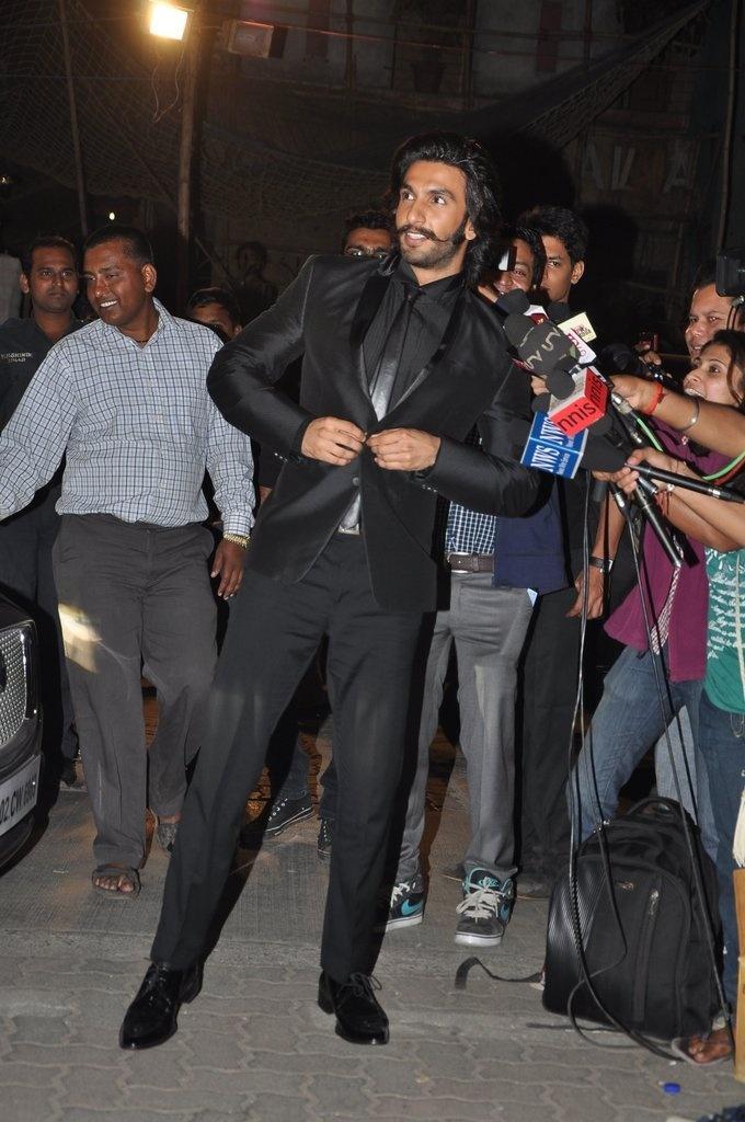 Ranveer Singh at 58th Idea Filmfare Awards 2013.