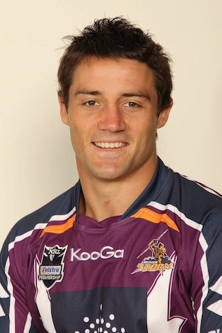 Cooper Cronk, Melbourne Storm. I don't know if he is one of the players I got a pic with in Aussie but he handsome!