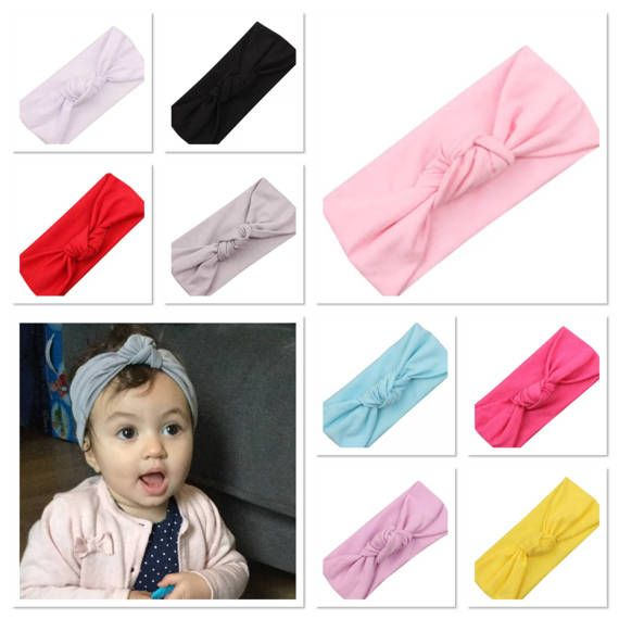 Baby girls headband Turban headband knot headband pink