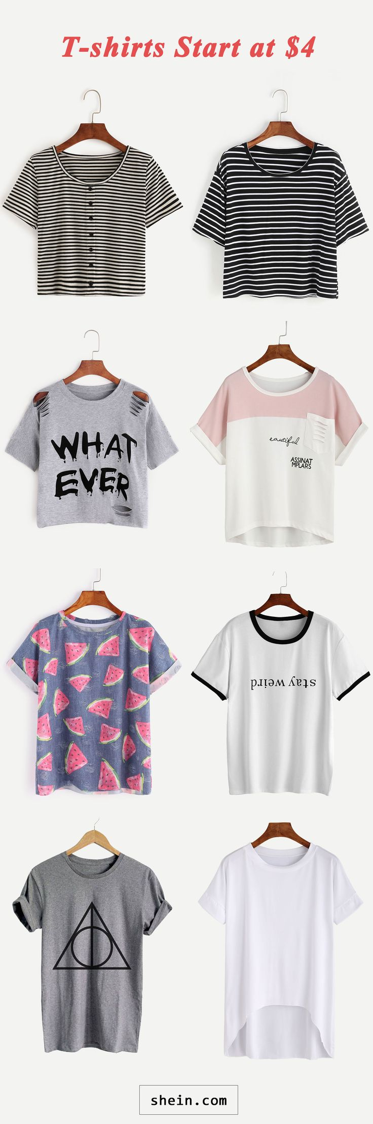 T shirts start at $4!