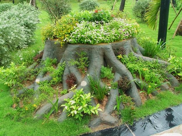 landscape ideas wood - Google Search