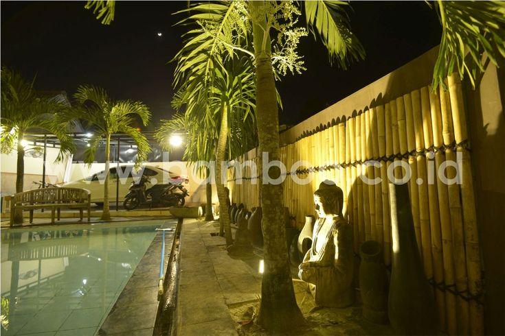 Bamboo Fencing Panels Installation – Night | BAMBOO