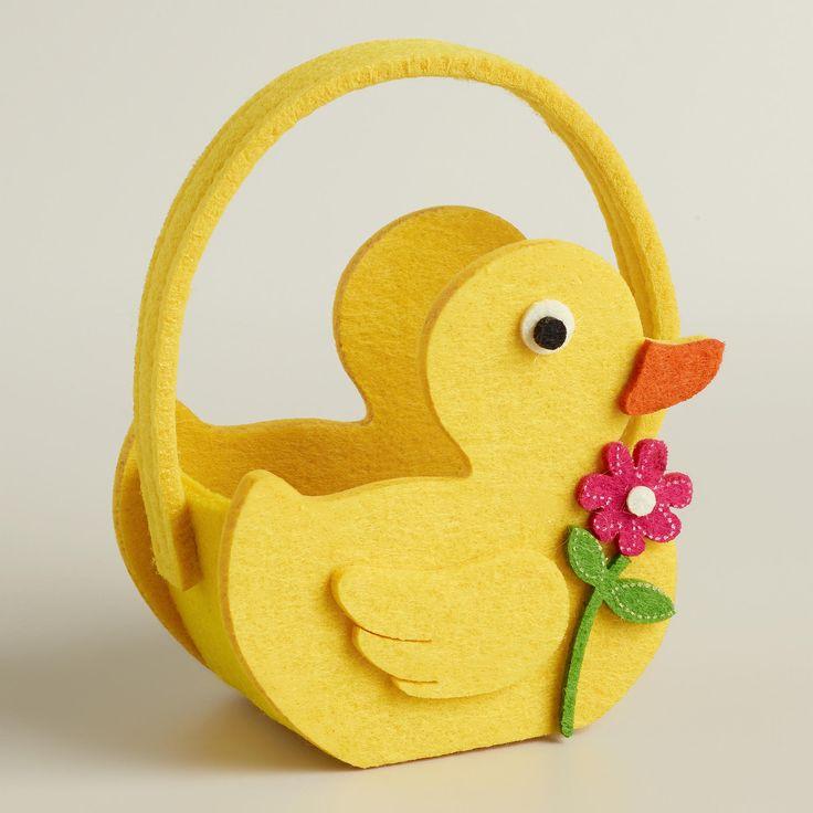 Mini Duck Felt Easter Basket, Set of 2   World Market