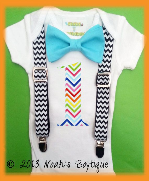 Boys First Birthday Number Outfit