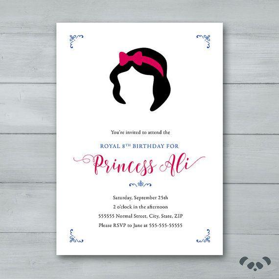 Best 25 Snow white invitations ideas – Snow White Party Invitations