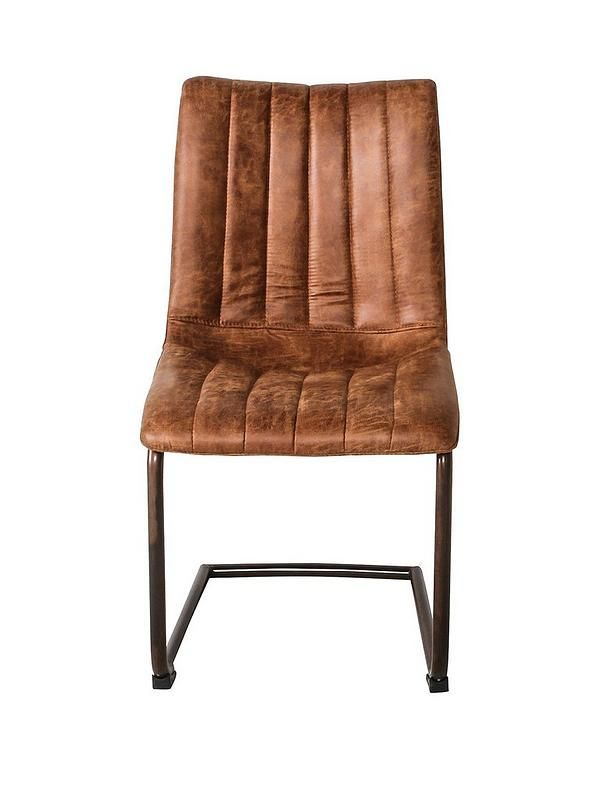 Hudson Living Pair Of Edington Faux Leather Dining Chairs Brown Very Co Uk Faux Leather Dining Chairs Dining Chairs Leather Dining Chairs