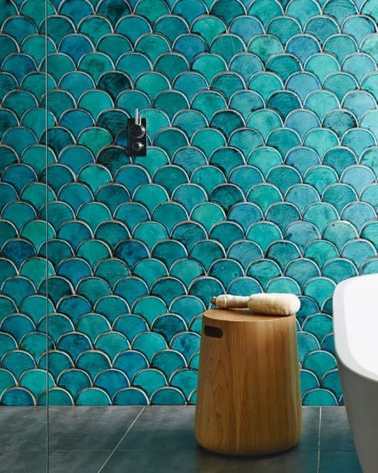 The 25 best ideas about fish scale tile on pinterest for Fish scale tiles bathroom