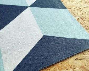 Boys Room Fabric By The Metre Geometric Fabric Cubes