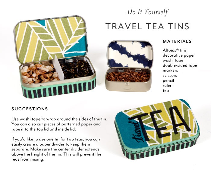 DIY Make your own loose leaf travel tea tin from an Altoids tin. www.stashtea.com