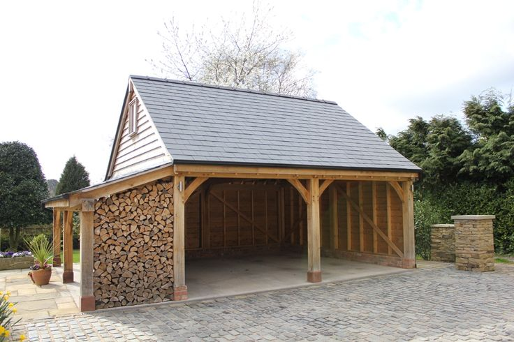 Our standard 39 high ridge byton 39 design with additional for Log carports