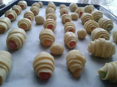 Lokumlu kurabiye yapılışı