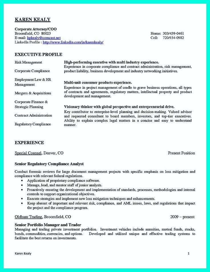Research Compliance Officer Sample Resume A Well Written Resume
