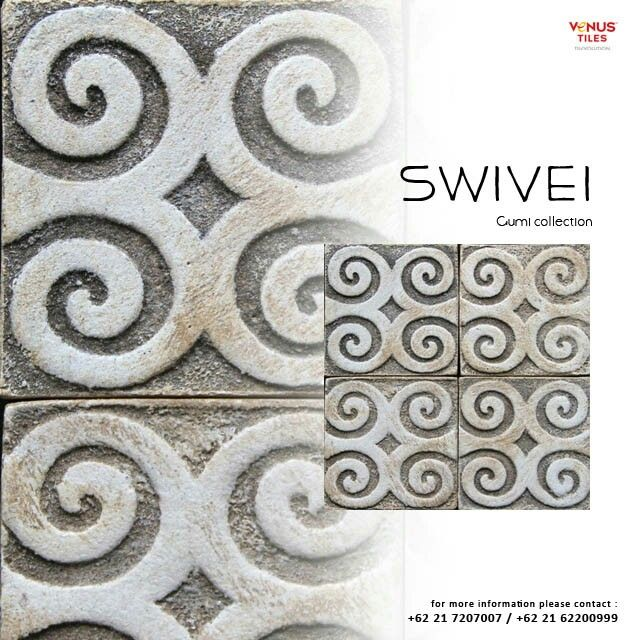 Artistic design of Handmade Tile. The tiles are made in Indonesia.  Suit for wall of application www.venus-tiles.com