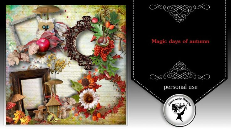 Magic days of autumn Frames by Black Lady Designs - $1.75 : ScrapBird!, source for digital scrapbooking