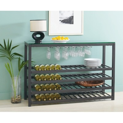 TFG Trio Wide Wine Table in Powder Coated Black